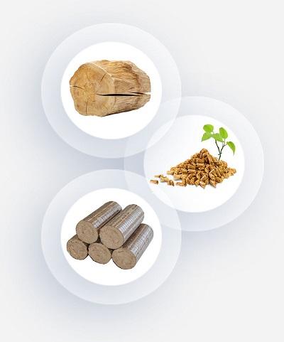 Amestecuri din lemn, peleţi, brichete sau cărbune